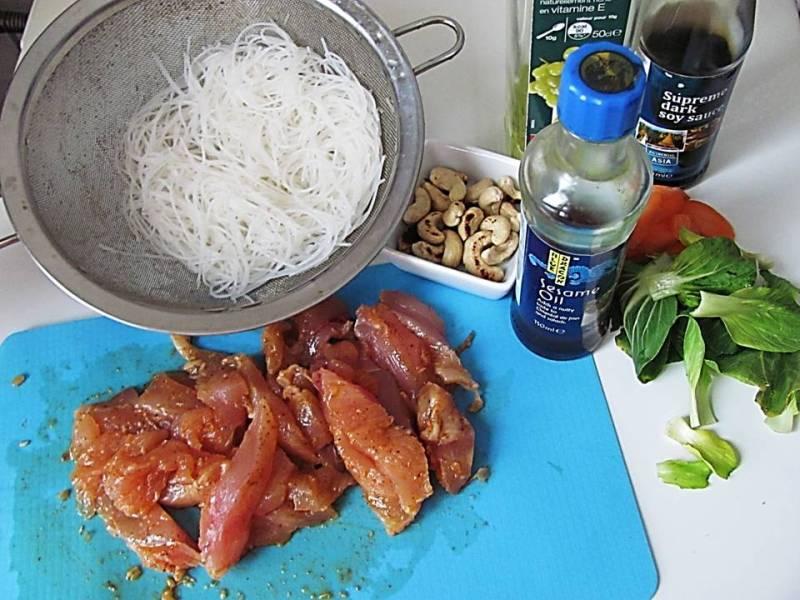 ingrediente wok de pui