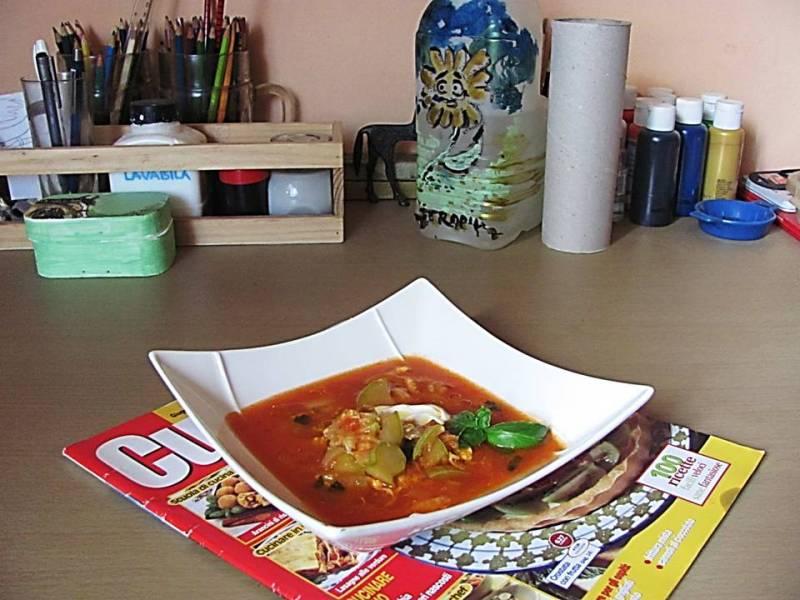 supa de rosii cu legume